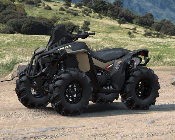 Snorkeled intakes and 28-inch ITP Mega Mayhem mud tires are mud hole ready.