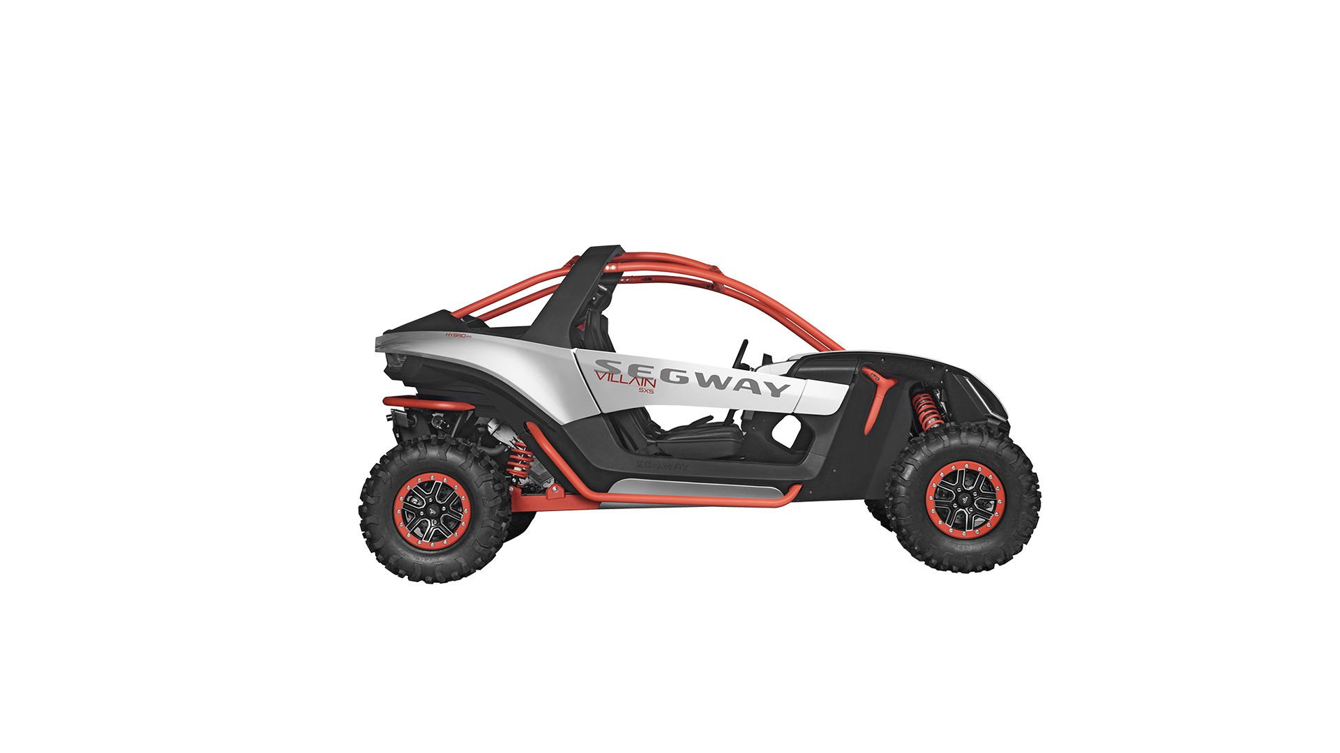 The chassis is made of chromium-molybdenum tubing and includes rock sliders and a front bumper.