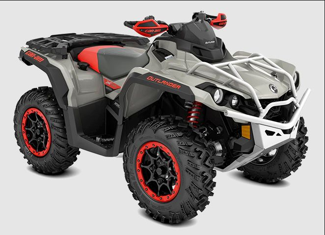 2022 Can-Am Outlander X XC 1000R, Chalk Gray and Magma Red, MSRP $14,899.