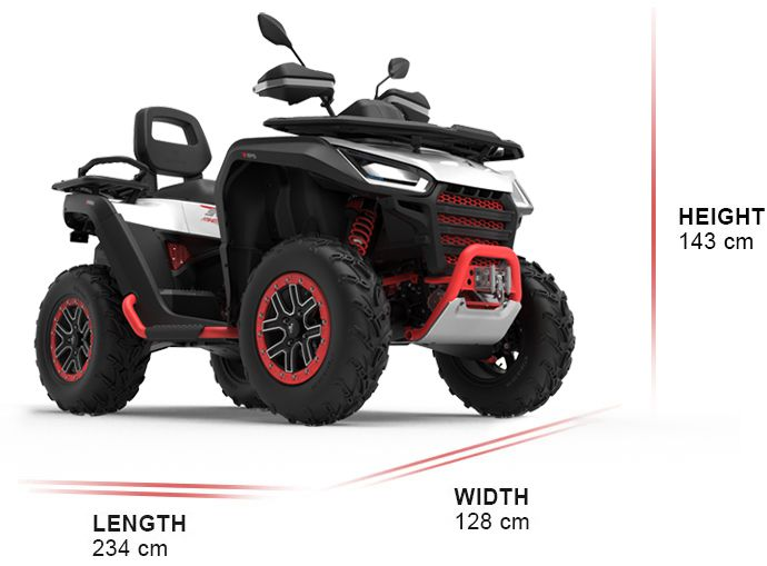 The chassis is constructed of chromium-molybdenum steel and includes a front bumper and rock sliders on all models.