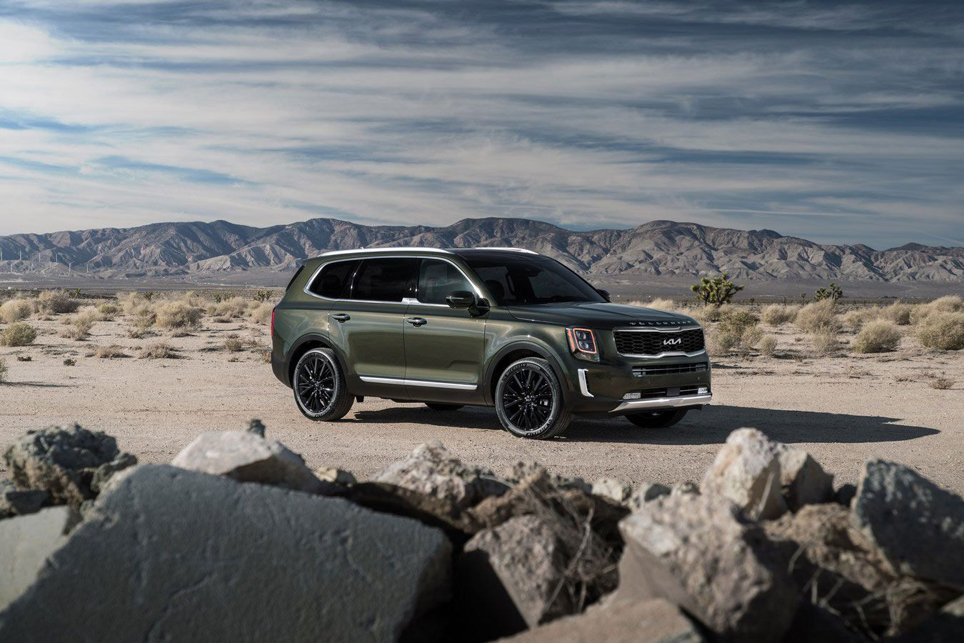 The 2021 Kia Telluride can tow up to 5,000 pounds.