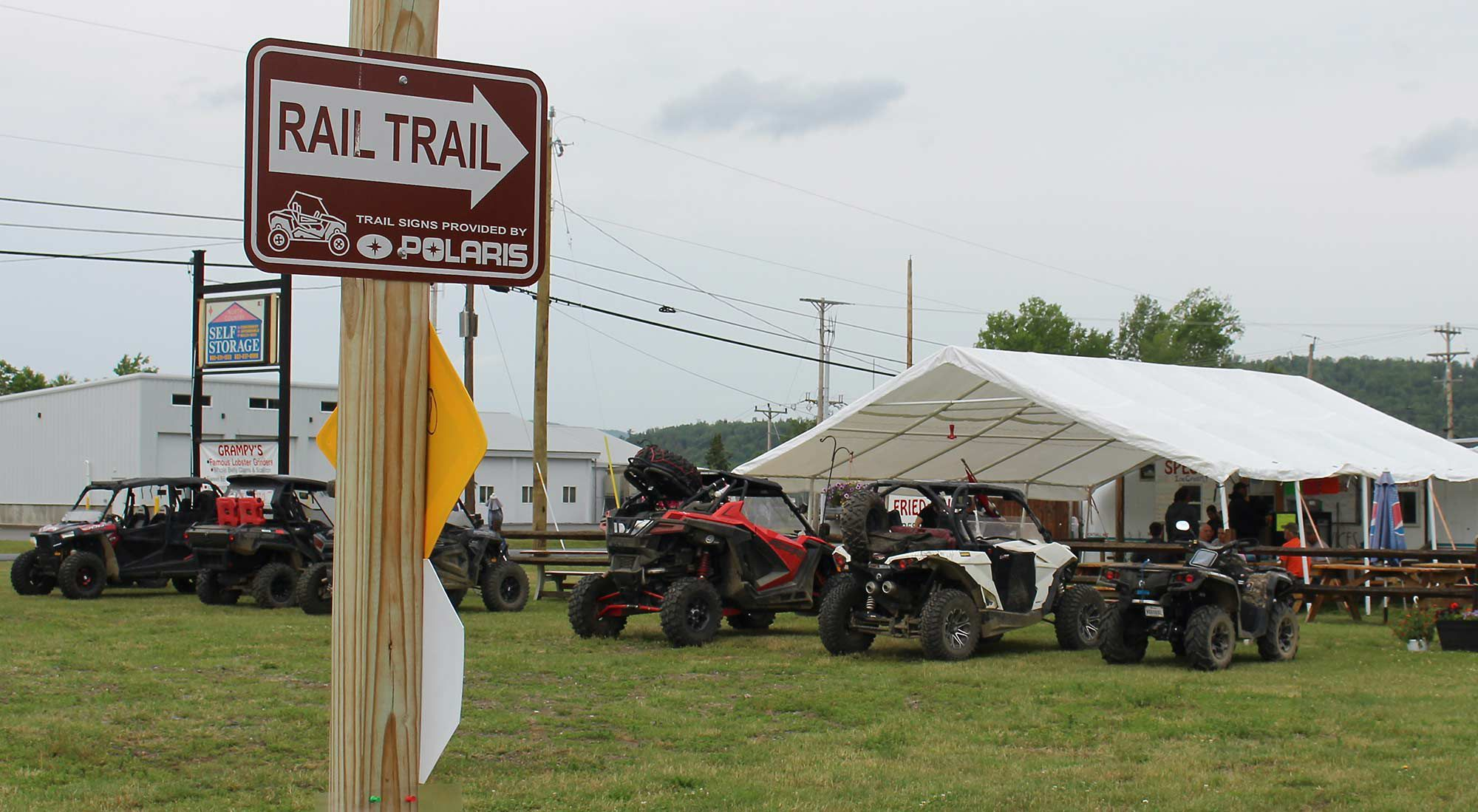 Lunch in Colebrook. Ride off the trail, grab a bite, get back on the trail.