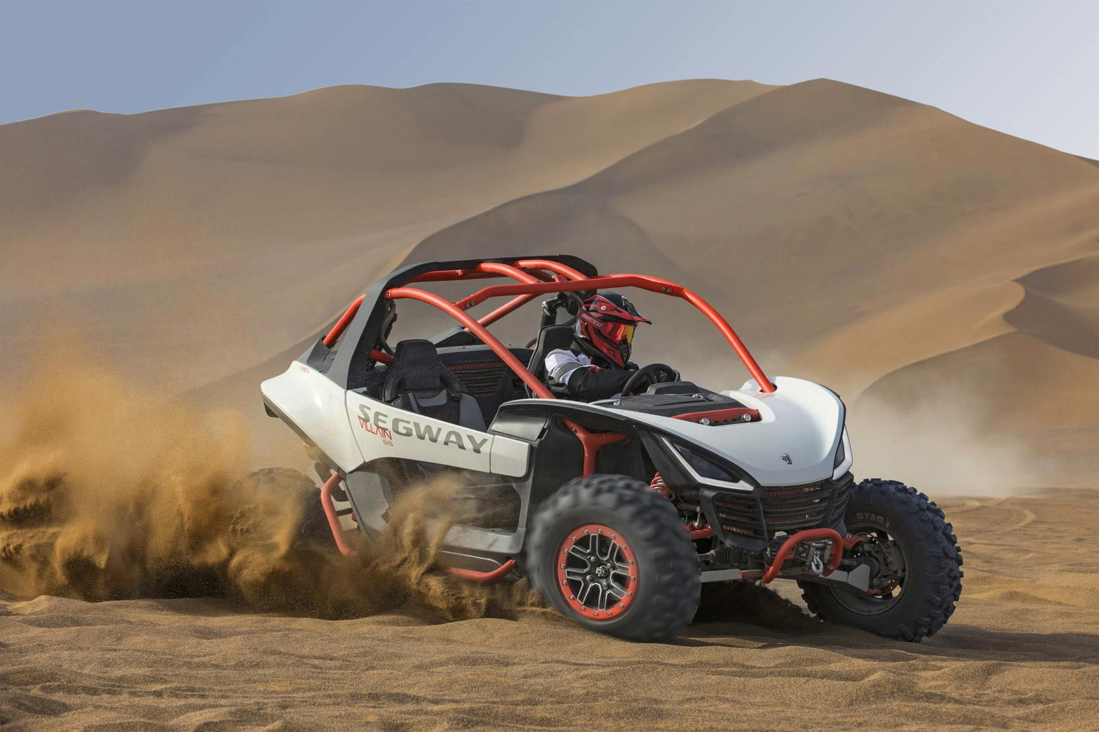 Segway's new Villain sport side-by-side looks to be a formidable dune cruiser.