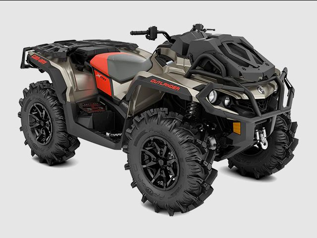 2022 Can-Am Outlander X MR 1000R, Liquid Titanium and Magma Red, MSRP $14,499.