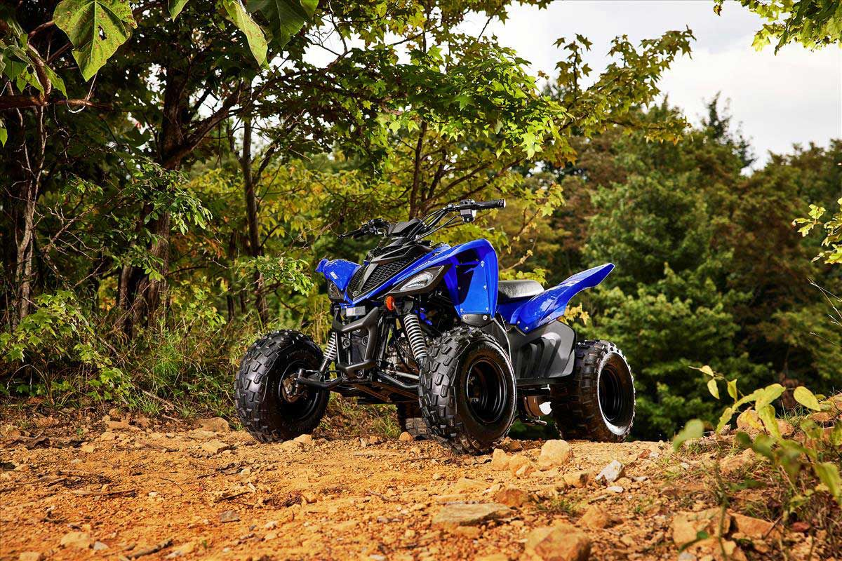 The Raptor 90 inherits its sporty looks from the full-size Raptor 700.