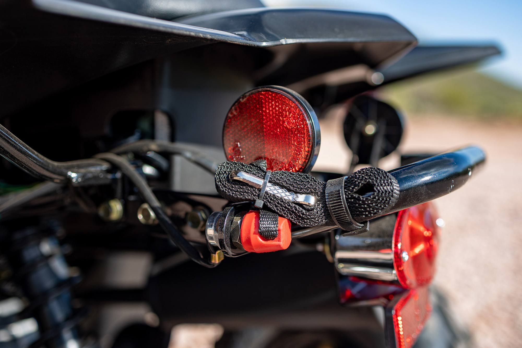 Parental control features include a throttle limiter and this engine kill switch with a 48-inch lanyard.
