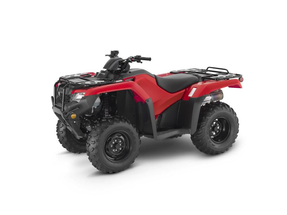 Honda offers the FourTrax Rancher series in olive, shown here, and red.